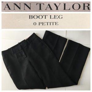 AT 0P Signature BootLeg Lined Dress Pants,Black